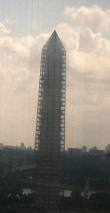 Washington Monument under repair - photo Russ Imrie