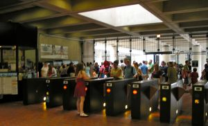 crowds jam east falls church metro gates