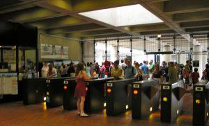 crowds jam east falls church metro gates