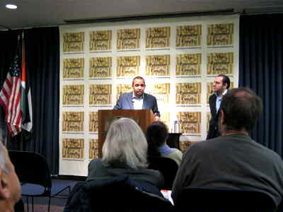 Adel Iskandar speaking at Palestine Center, Washington DC Jan 25, 2011
