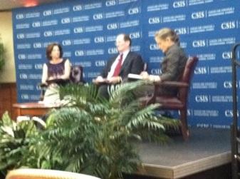 l. to r. Pamella Passman ( Pres & CEO CREATe.org), Benjamin Heineman (Harvard U.), Meridith Broadbent (CSIS) - photo Russ Imrie