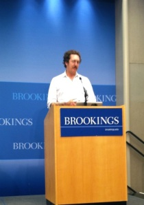 Ben Hammersley speaking at Brookings - photo Russ Imrie