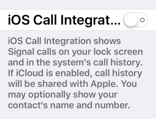 CallKit on/off phone integration